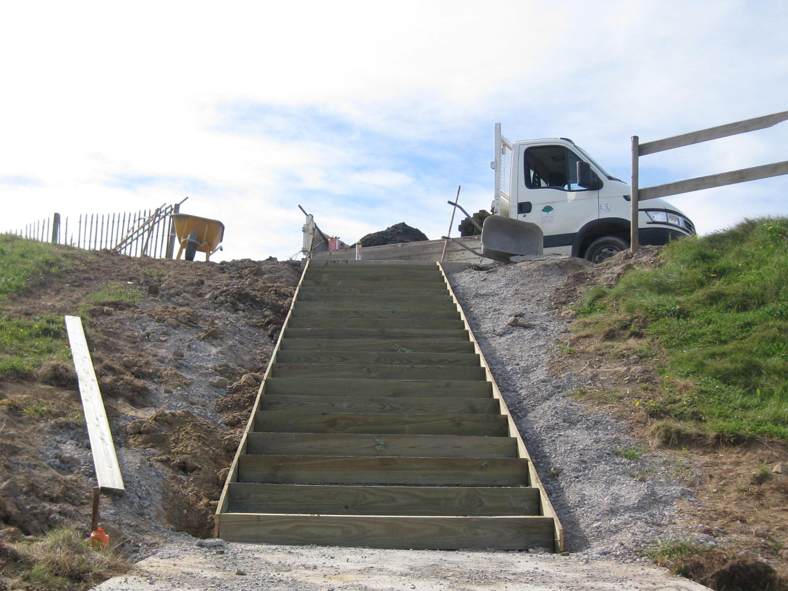 Floriparc, escalier Bidart