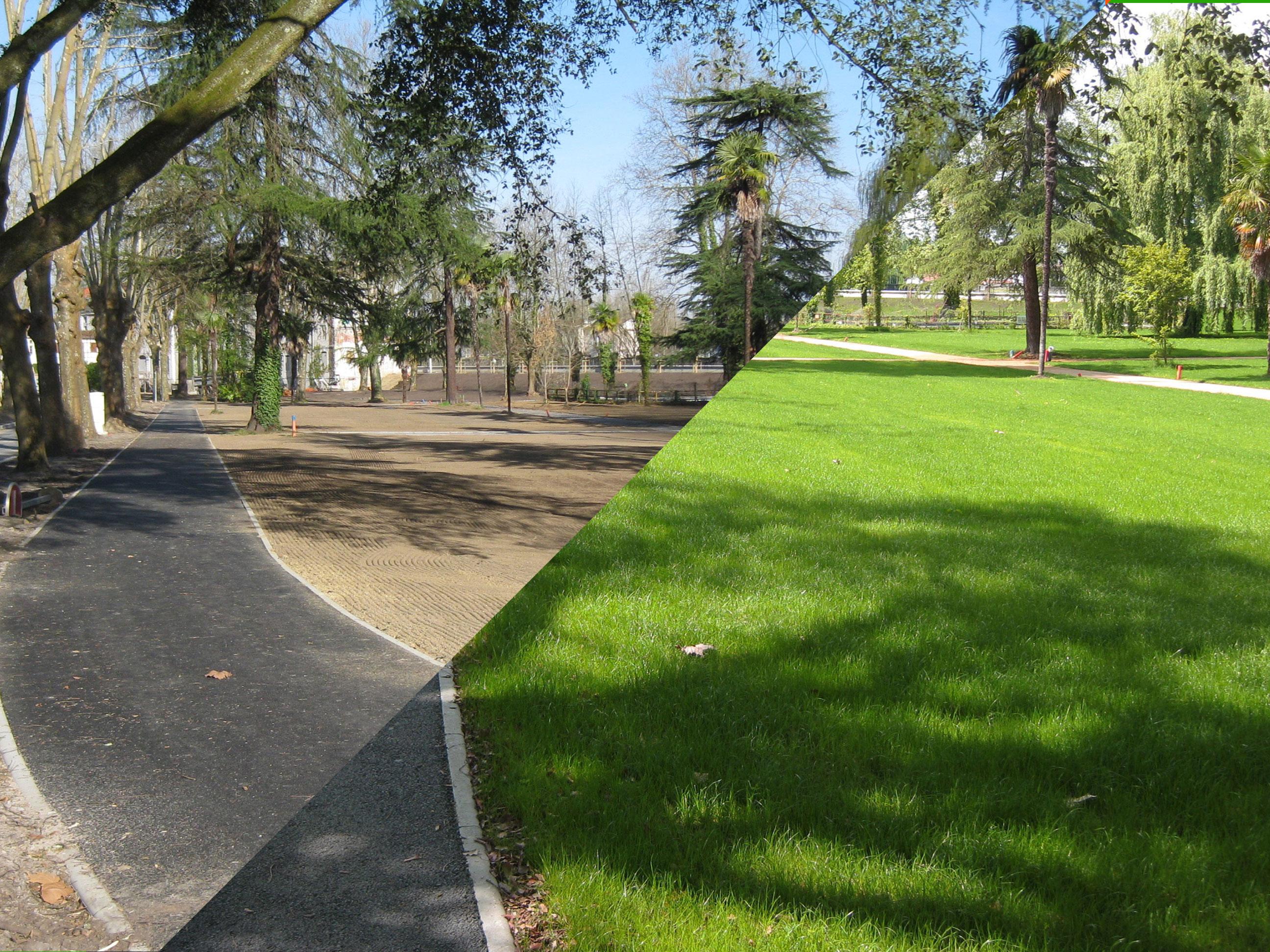Floriparc, gazon parc des Baignots Dax